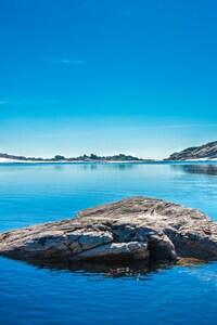 1080x2160 Lake Rock Nature
