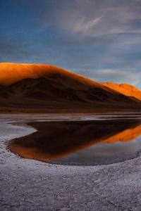 240x320 Lake Salt Flat Andes 5k