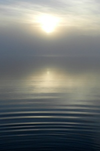 Lake Sun Morning Fog Reflection