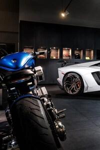 Lamborghini And Bike