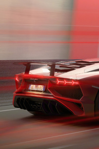 360x640 Lamborghini Aventador 4k Red