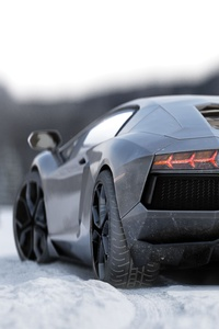 Lamborghini Aventador 5k Rear