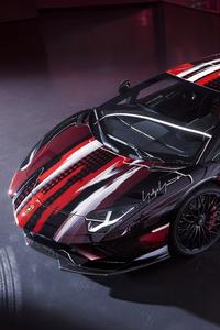 1242x2688 Lamborghini Aventador By Yohji Yamamoto 5