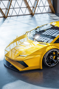 240x400 Lamborghini Aventador Concept Cgi 5k