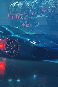 480x800 Lamborghini Aventador Dione Forged 4k