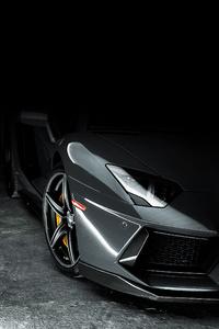 Lamborghini Aventador Grey 4k
