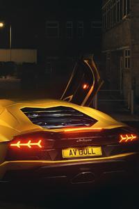 Lamborghini Aventador In The Night