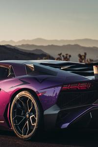 Lamborghini Aventador LP 750 SV Rear View