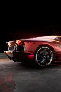 Lamborghini Aventador LP700 4 Rear Side 4k