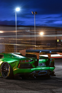 Lamborghini Aventador LP700 8k Rear