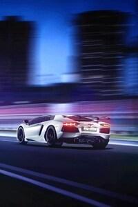 Lamborghini Aventador Motion Blur