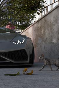 Lamborghini Aventador Roadster CGI