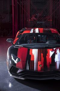 360x640 Lamborghini Aventador S By Yohji Yamamoto Front View 10k