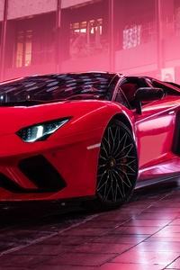 240x400 Lamborghini Aventador S Roadster 2019 4k