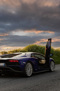480x854 Lamborghini Aventador S Window Open 5k