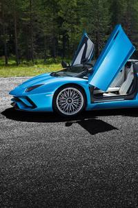 Lamborghini Aventador S Windows Open 4k