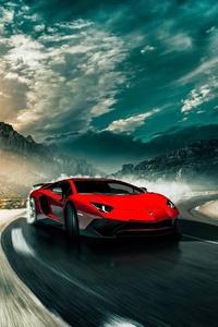 Lamborghini Aventador SV Drifting