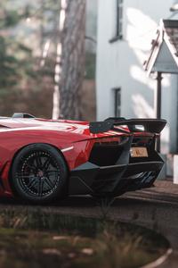 480x800 Lamborghini Aventador Sv Forza Horizon 4k