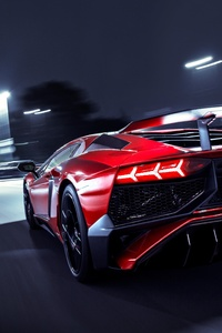 Lamborghini Aventador SV Rear Lights