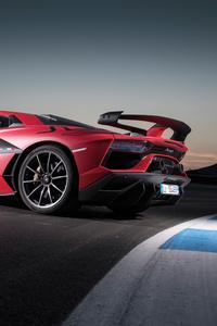 Lamborghini Aventador SVJ 2018 4k Rear