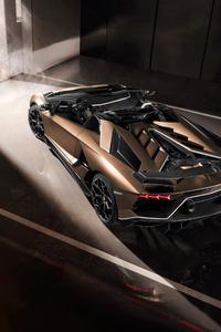 1125x2436 Lamborghini Aventador SVJ Roadster 2019 8k