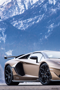 480x800 Lamborghini Aventador SVJ Roadster 2019 New