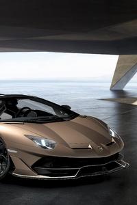 1242x2688 Lamborghini Aventador SVJ Roadster 5k