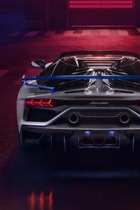 Lamborghini Aventador SVJ Roadster Xago Edition Rear View