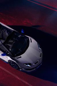 Lamborghini Aventador SVJ Roadster Xago Edition Upper View
