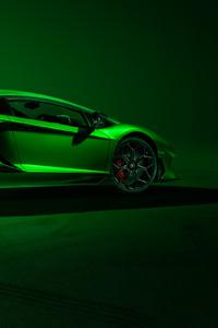 Lamborghini Aventador SVJ Side View