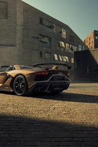 Lamborghini Aventardor SVJ 4k 2020 Rear