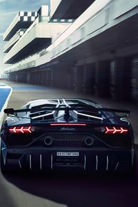 320x568 Lamborghini Aventardor SVJ 4k New