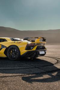 Lamborghini Aventardor SVJ 4k Rear