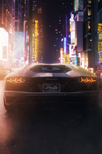 1080x2280 Lamborghini Car Art 4k