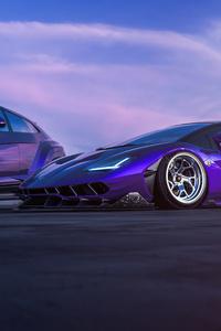 1440x2960 Lamborghini Centenario And Urus 4k