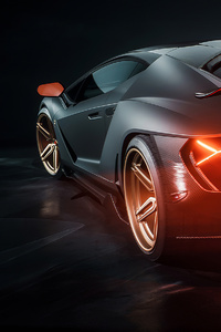 240x320 Lamborghini Centenario Car Rear