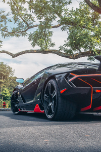 Lamborghini Centenario Rear Car
