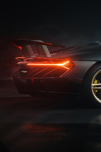 240x320 Lamborghini Centenario Rear New