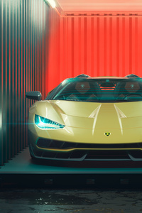 Lamborghini Centenario Roadster Cgi 4k