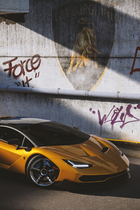 Lamborghini Centenario Yellow Cgi 2021 4k