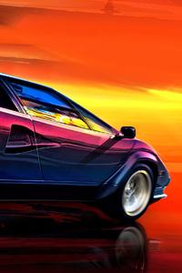 Lamborghini Countach Art 4k