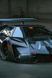 480x800 Lamborghini Countach Concept Art 4k