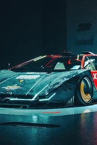 Lamborghini Countach Customs Front View 4k