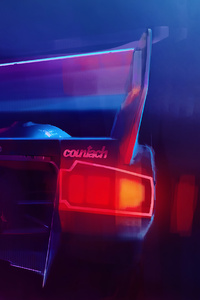 1280x2120 Lamborghini Countach Digital Art 4k