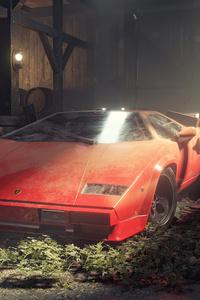 1125x2436 Lamborghini Countach Eating Dust