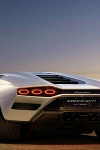 480x854 Lamborghini Countach Lpi 800 Rear View 5k