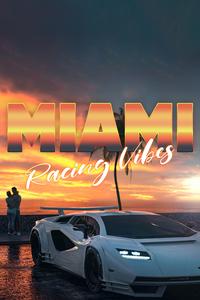 750x1334 Lamborghini Countach Miami Vibes
