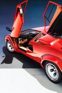 540x960 Lamborghini Countach Vintage Car 4k