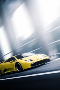 Lamborghini Diablo In Motion