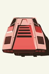 Lamborghini Diablo Minimalism 4k